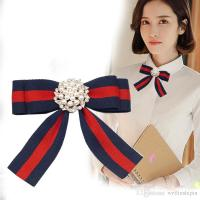 Best Fabric Bow Brooches For Women Necktie Style Brooch ...