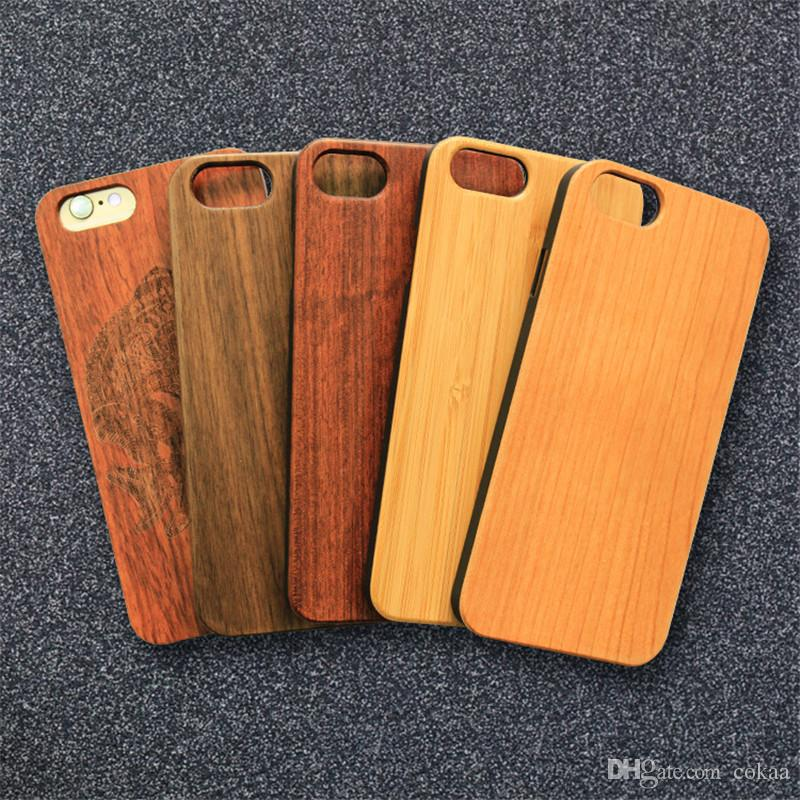 Real Wood Phone Case Capa For Iphone 6 6s Plus Cases Bamboo Rosewood - rosewood case