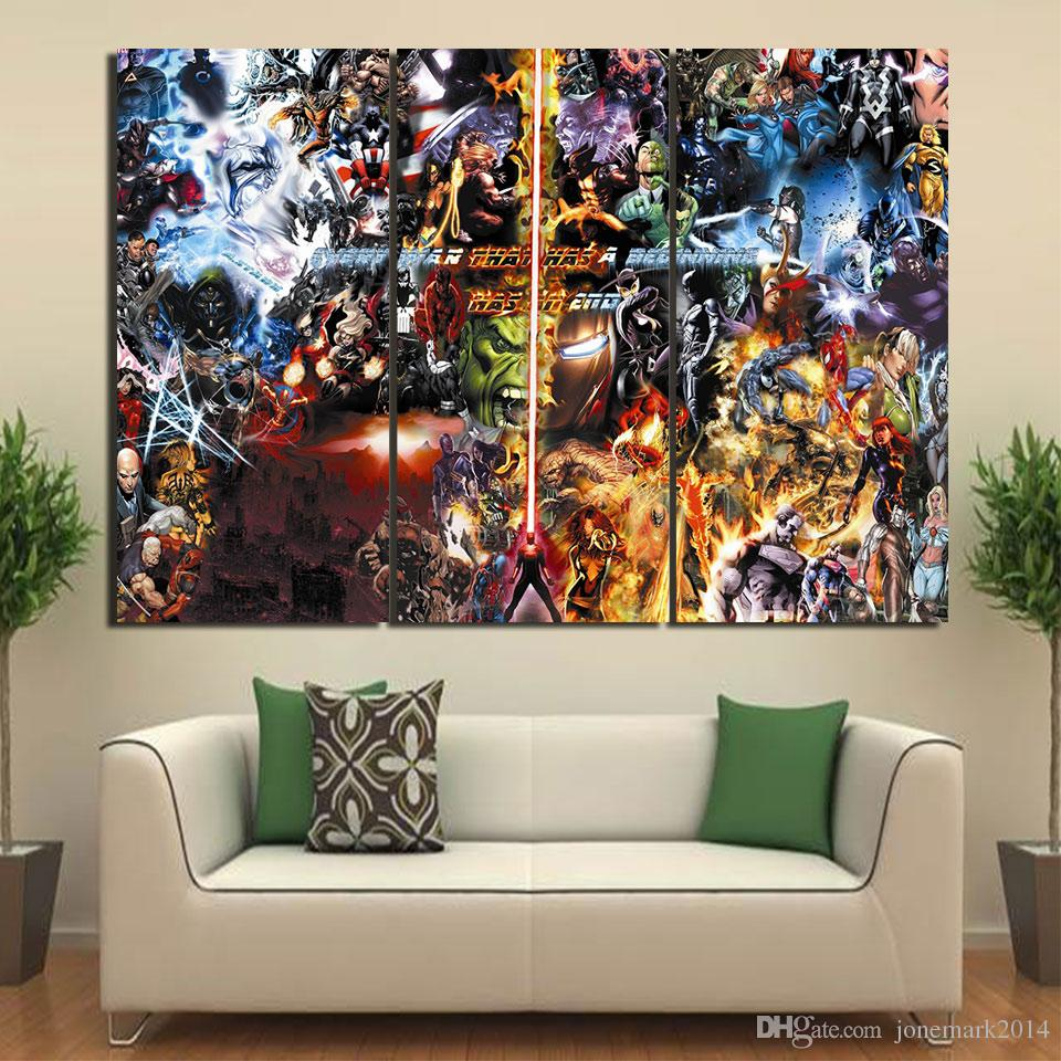 Comic Wall Decor 3 Pcs Set Framed Hd Printed Final War Comic Wall Art Canvas Pictures For Living Room Bedroom Home Decor Canvas Painting