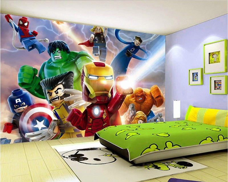 Wolverine 3d Wallpaper 3d Lego Avengers Wallpaper For Walls Mural Cartoon
