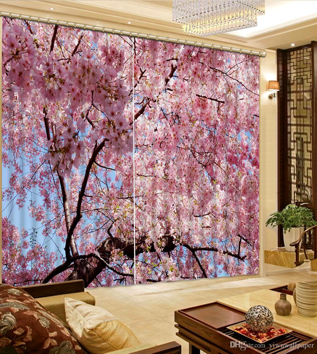 Pink Living Room Curtains Modern Living Room Curtains Pink Flower Custom Curtain Fashion Decor Home Decoration For Bedroom Living Room Curtain