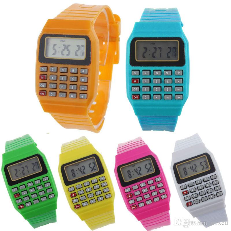 Unsex Women Men Watch Silicone Multi-Purpose Date Time Electronic