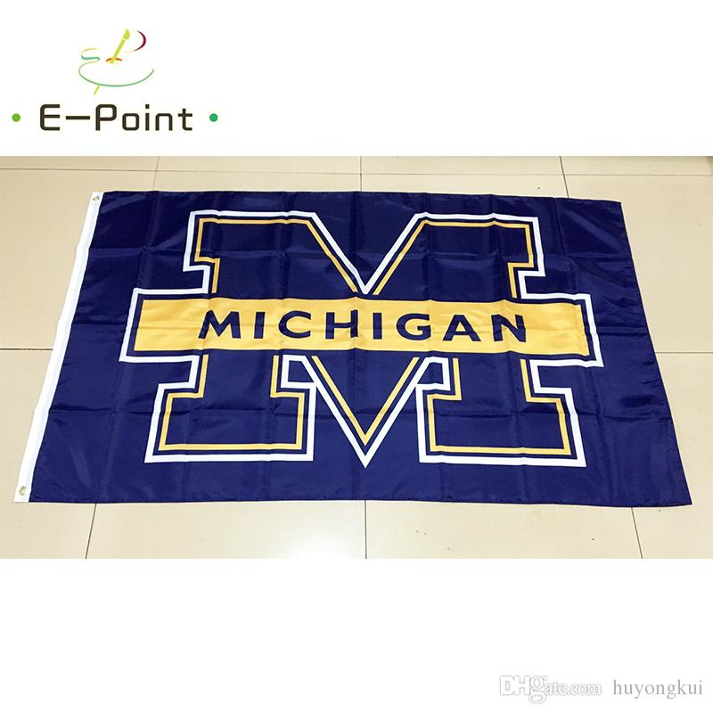 NCAA Michigan Wolverines Team Polyester Flag 3ft*5ft 150cm*90cm Flag - ncaa home office