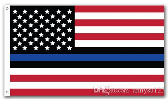 2017 4 Types DHL Free Blue Line USA Flags 3 By 5 Foot Thin Red Line