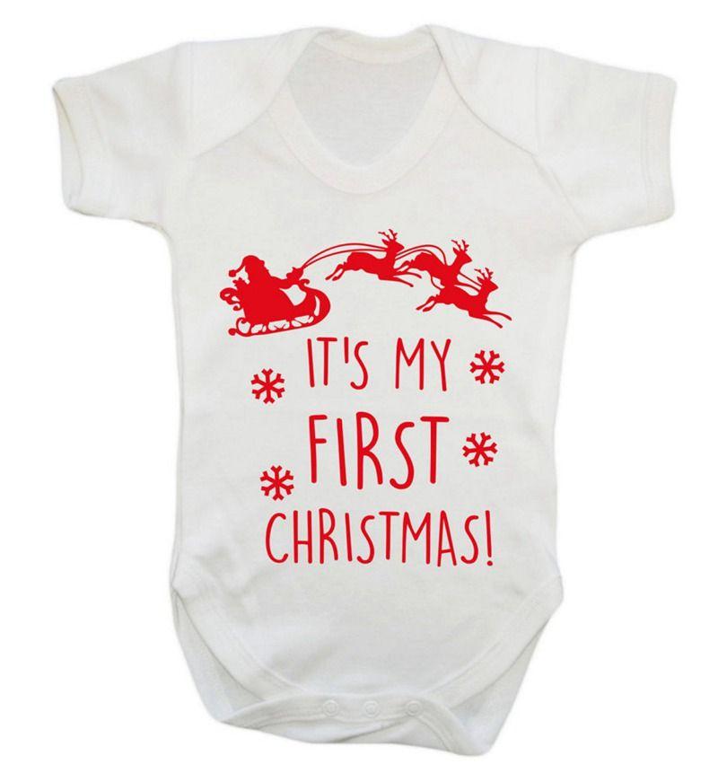 Newborn Baby Girl Wallpaper 2018 It S My First Christmas Children Xmas Romper Newborn