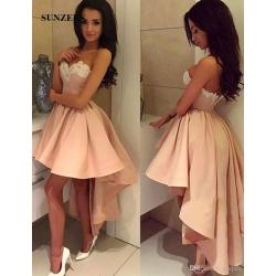Glancing Girls Cheap Prom Dresses Short Front Back Long Shortcheap Sweeart Low Homecoming Dresses 2017 Sweeart Appliques Sweeart Low Homecoming Dresses 2017 Sweeart Appliques Beadedgraduation Gowns