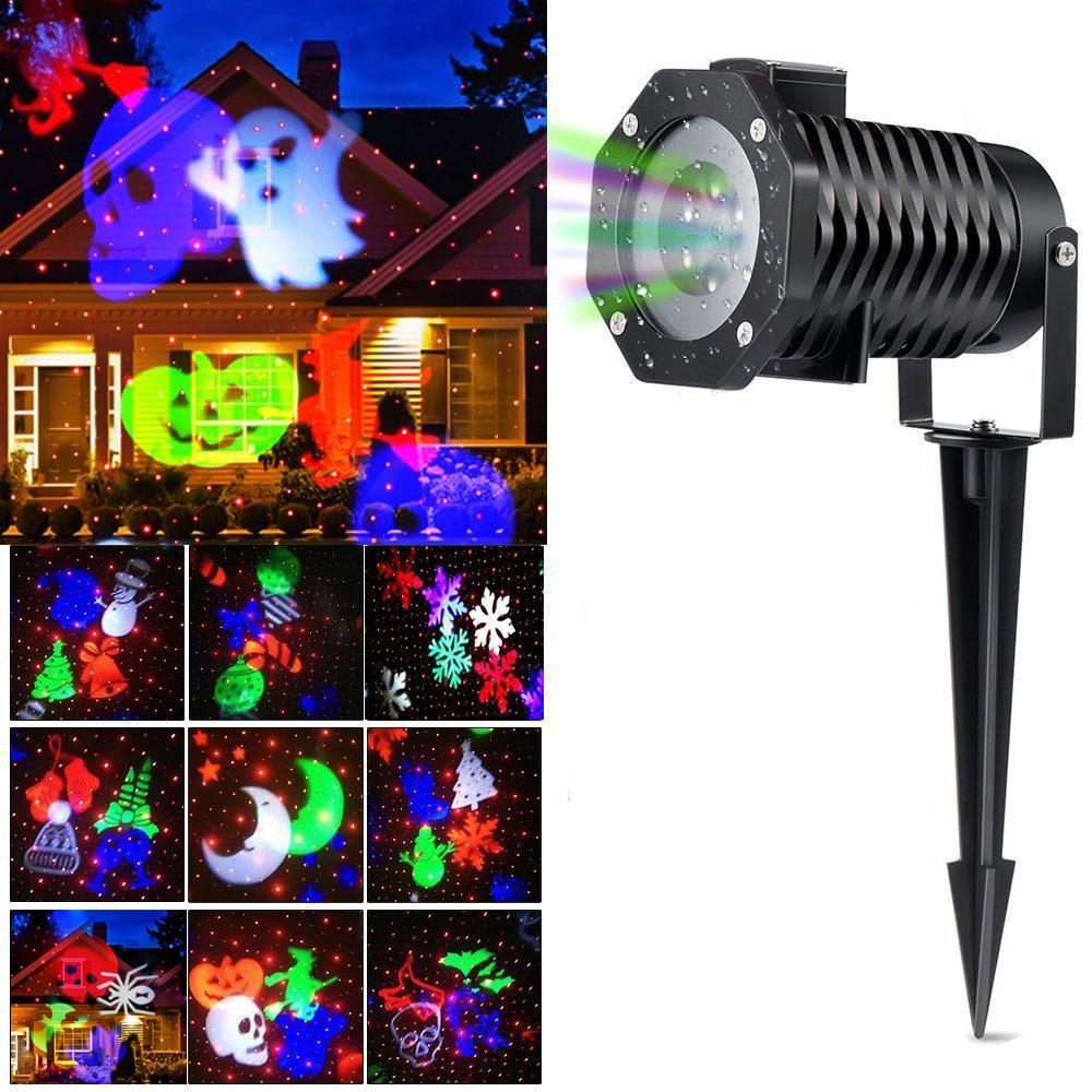 Light Projector Christmas Light Projector Ucharge Rotating Projector Snowflake Spotlight Led Light Show For Halloween Party Holiday Decoration