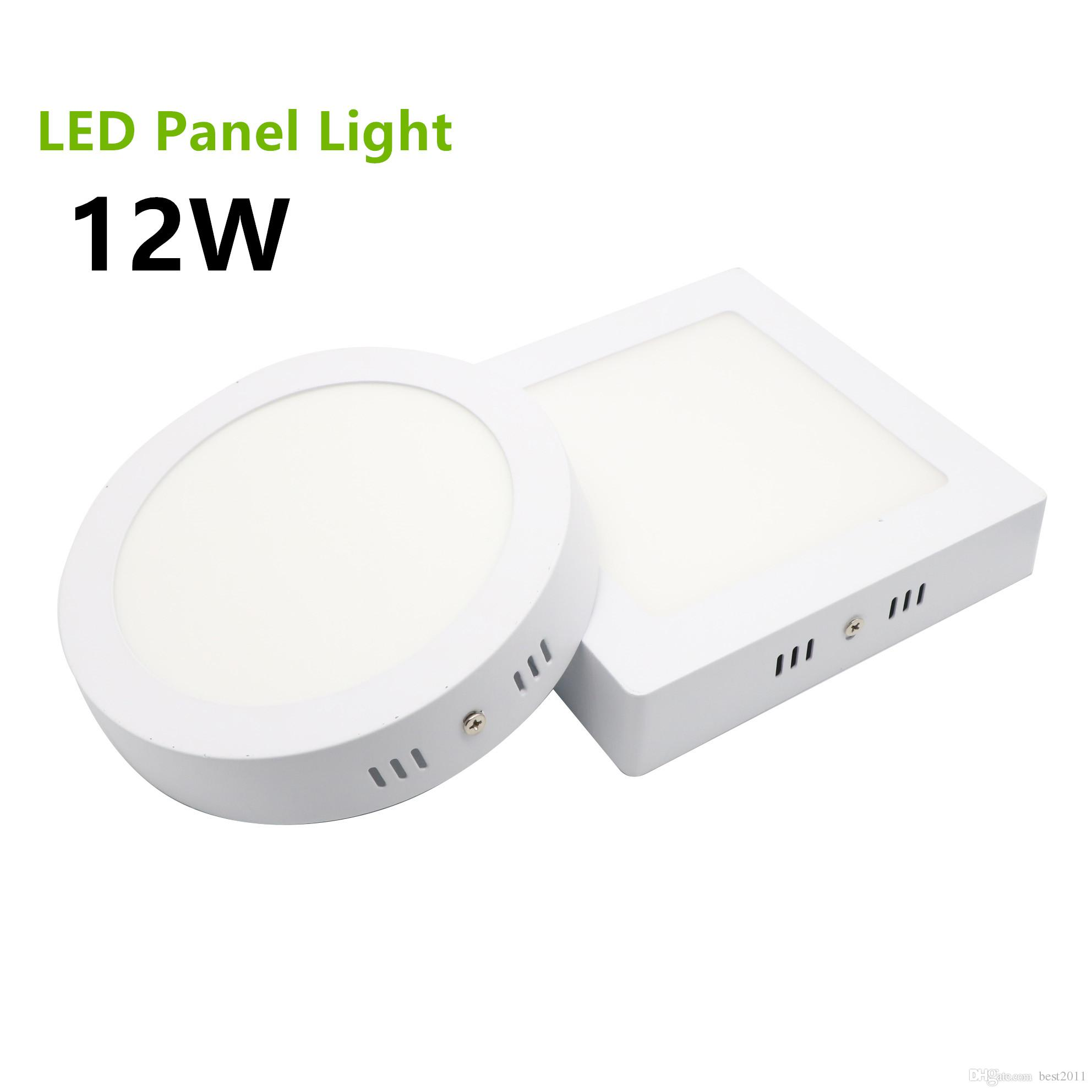 Led Panel Light Square And Round 2018 2835 Smd Surface Mounted Led Panel Light 12w Round