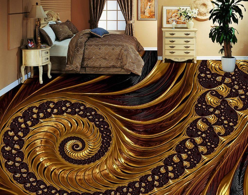 3d Floor Tiles Custom Wallpapers For Living Room Abstract