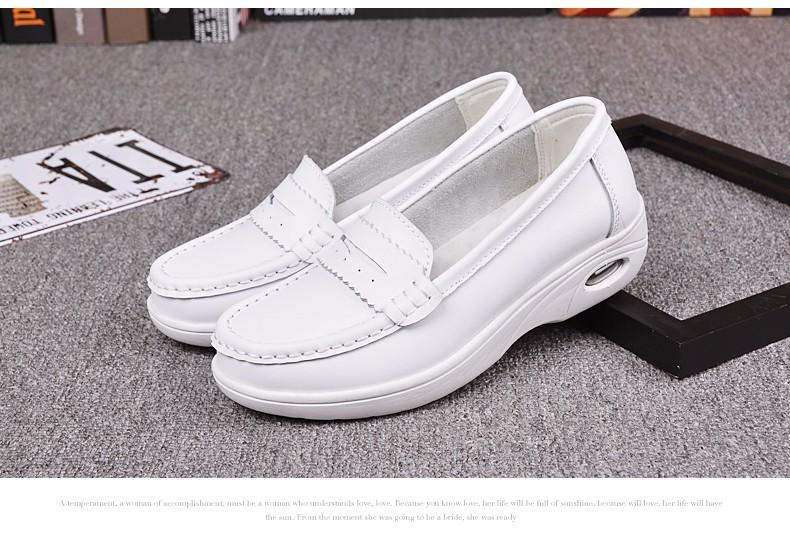 High Quality White Platform Nurse Shoes Women Moccasins