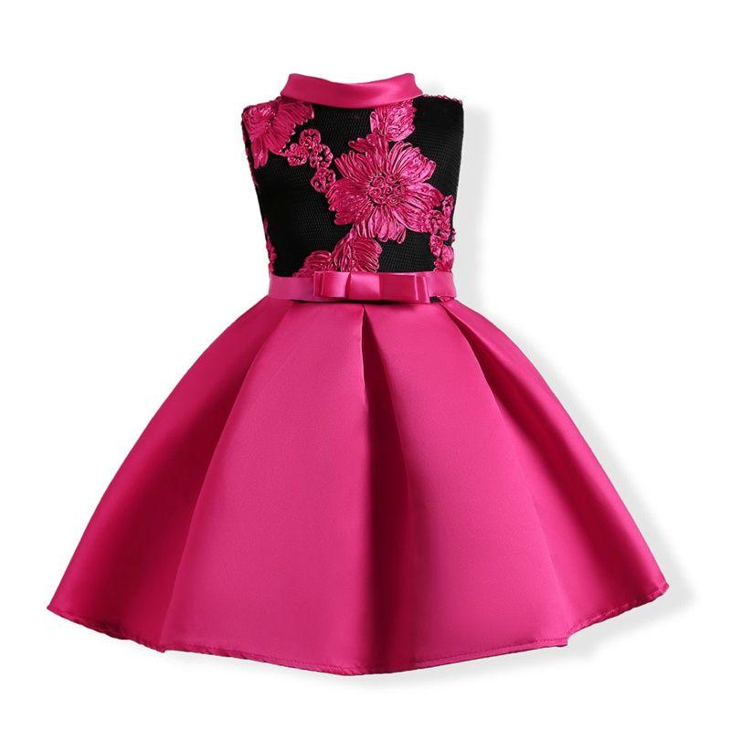 2019 2017 Childrens Hot Pink Princess Dresses Kids Party Clothes