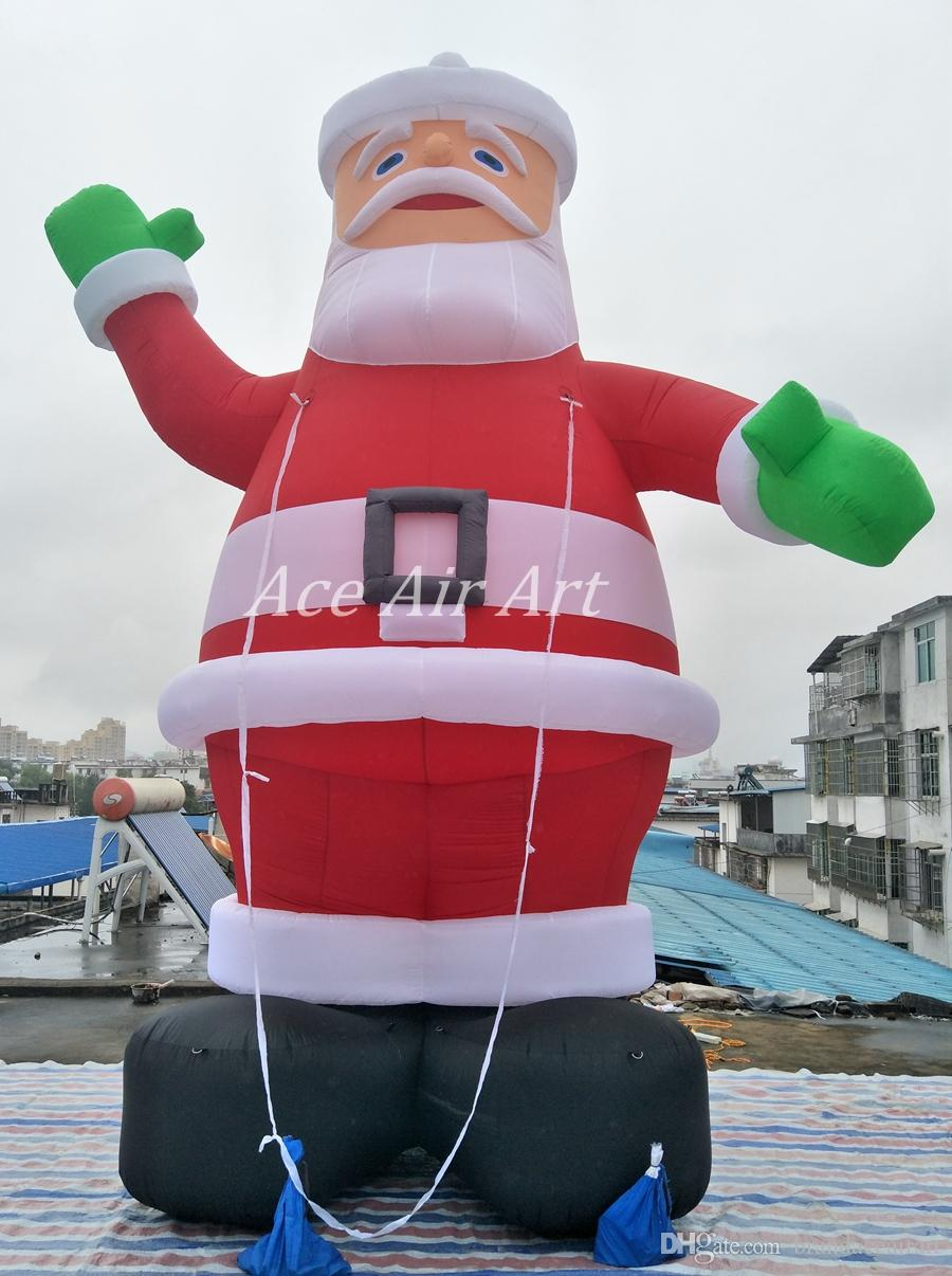 5 5 In Meters 5 Meters Tall Giant Inflatable Christmas Decoration Santa Claus For Christmas Hoiliday Decoration Or Advertising On Store
