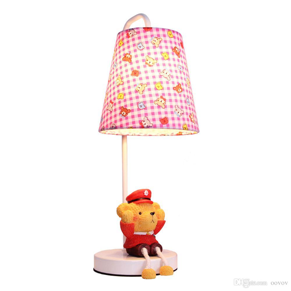 Table Lamps For Kids Cute Fabric Baby Room Small Desk Lamp Cartoon Bear Kids Room Desk Light Children Bedroom Table Lamps