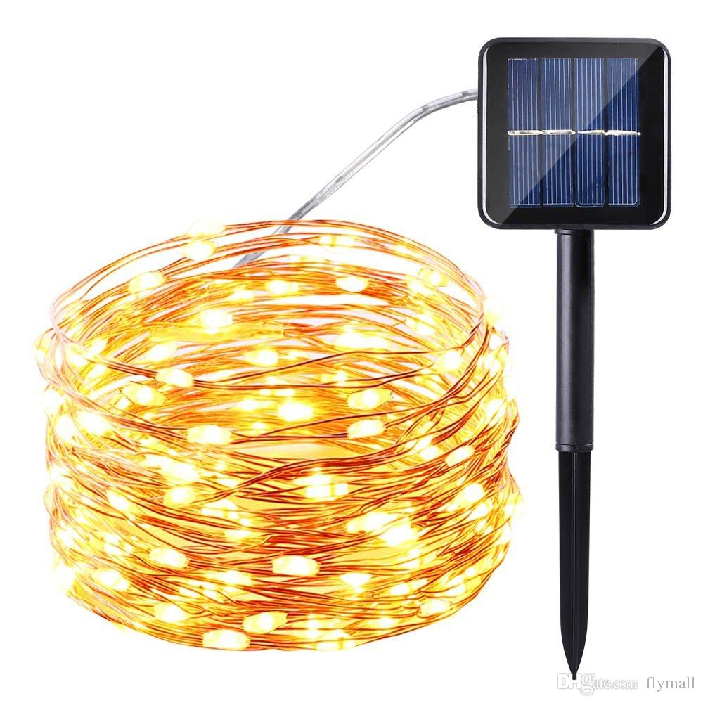 Solarlampen Terrasse 10m 100 Led Solar Lamps Copper Wire Fairy String Patio Lights 33ft Waterproof Outdoor Garden Christmas Wedding Party Decoration