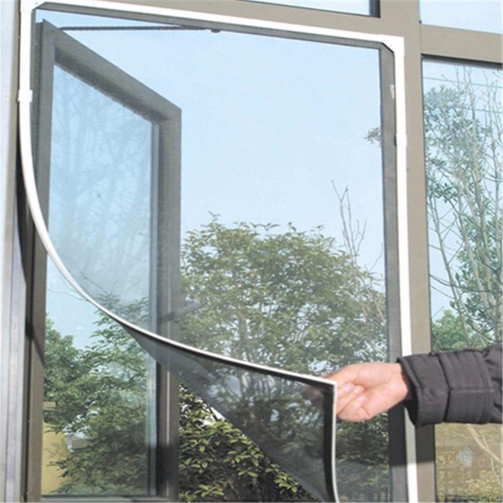 Mesh Window Screen Sheer Curtains Window Screen Insect Fly Mosquito Diy Home Door Window Screen Encryption Netting Mesh Sticky Tape Door Window Nets