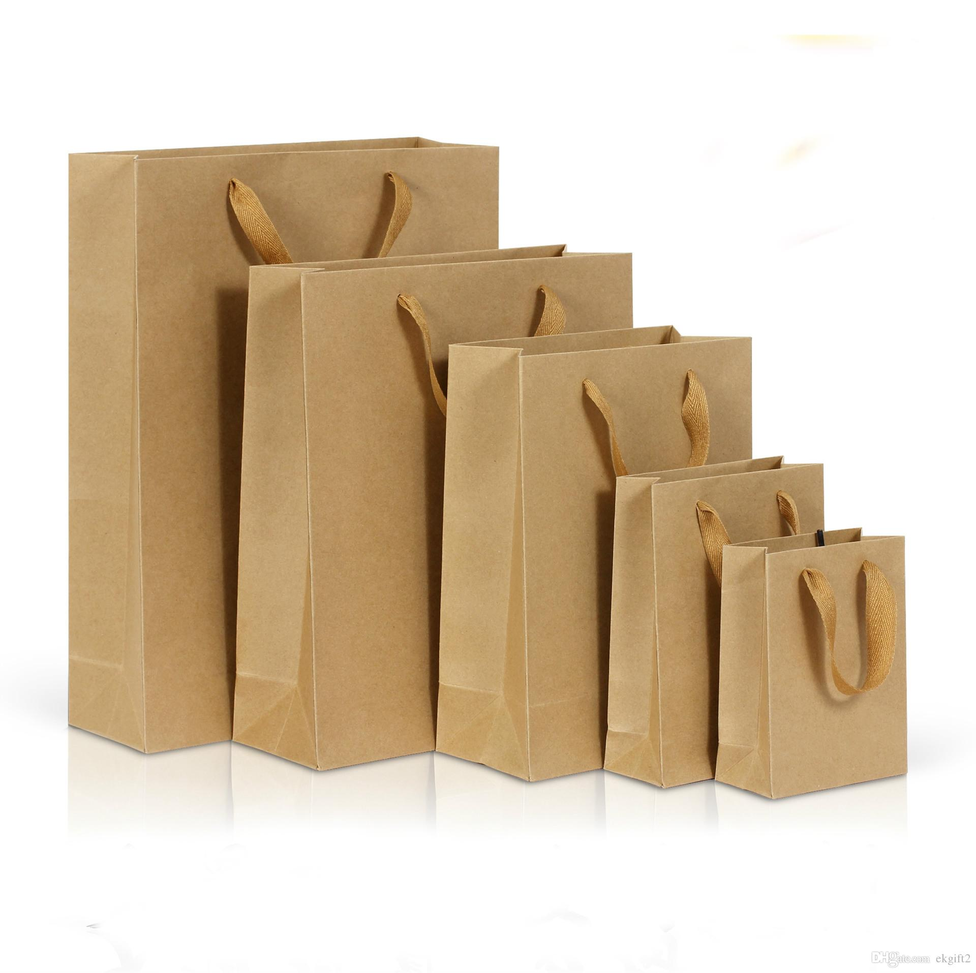 Brown Paper Bags With Handles Kmart 2019 Easy Carry Kraft Paper Bag With Handle E Co Craft