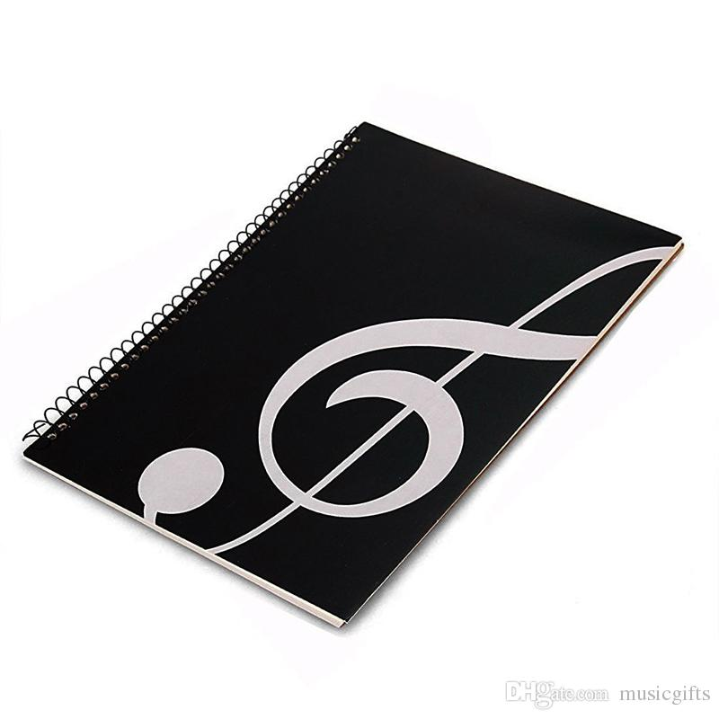 Black Blank Sheet Music Composition Manuscript Staff Paper Music