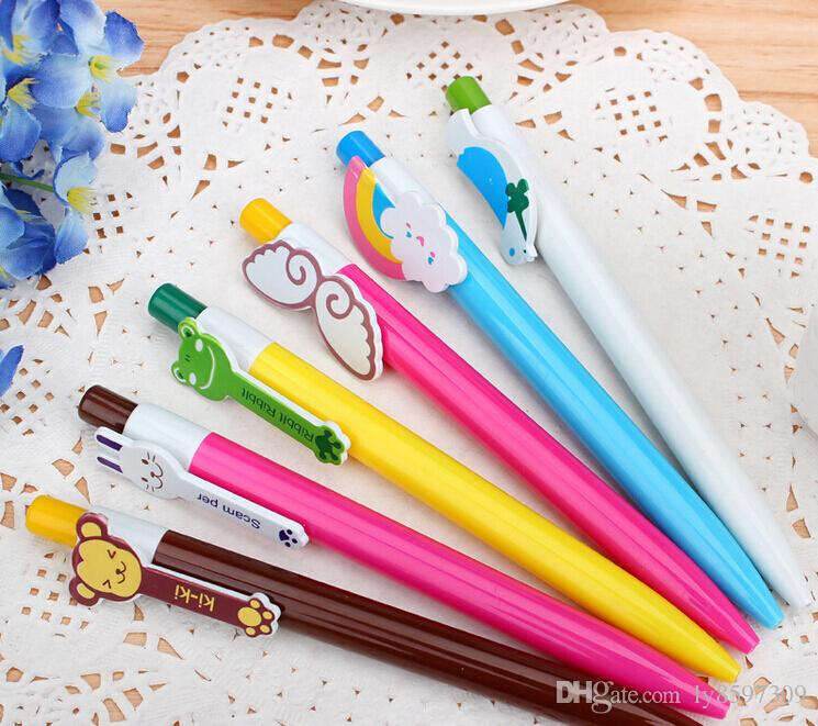 Cute Cartoon Animal Rainbow BallPoint Pen for School And Office Gift