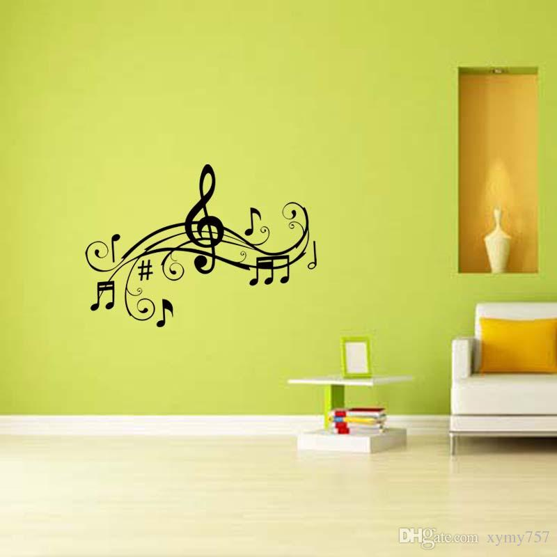 Music Character E Vinyl Decal Removable Funny Personality Sticker