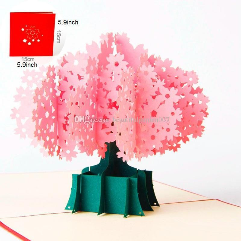 Cherry Blossoms 3d Greeting Card Birthday Gifts Pop Up Greeting - cherry blossom animated