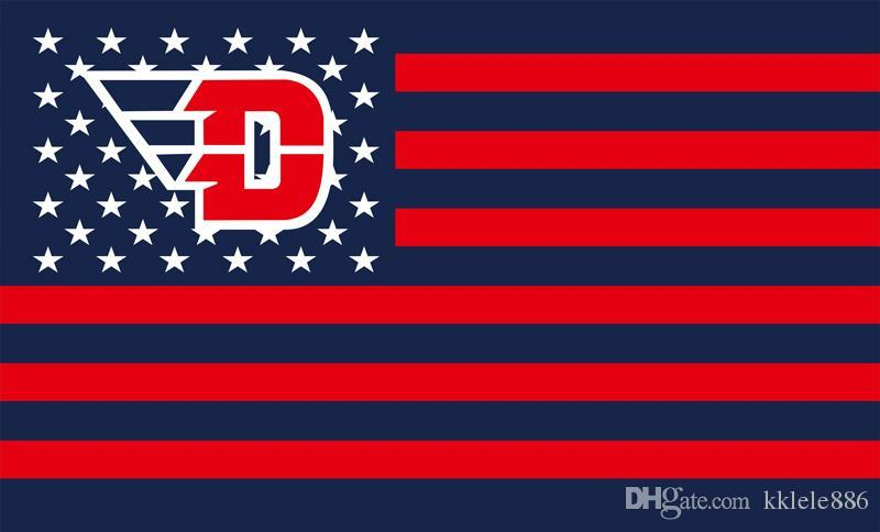 2019 Dayton Flyers Flag 90 X 150 Cm Polyester NCAA Stars And Stripes