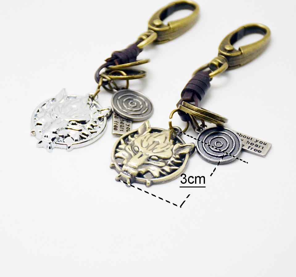 Key Rings Canada Classic Key Chain Ring Metal Swivel Wolf Head Ornaments Clasp Clips Key Hooks Keychain Split Ring Diy Bag Jewelry Wholeales