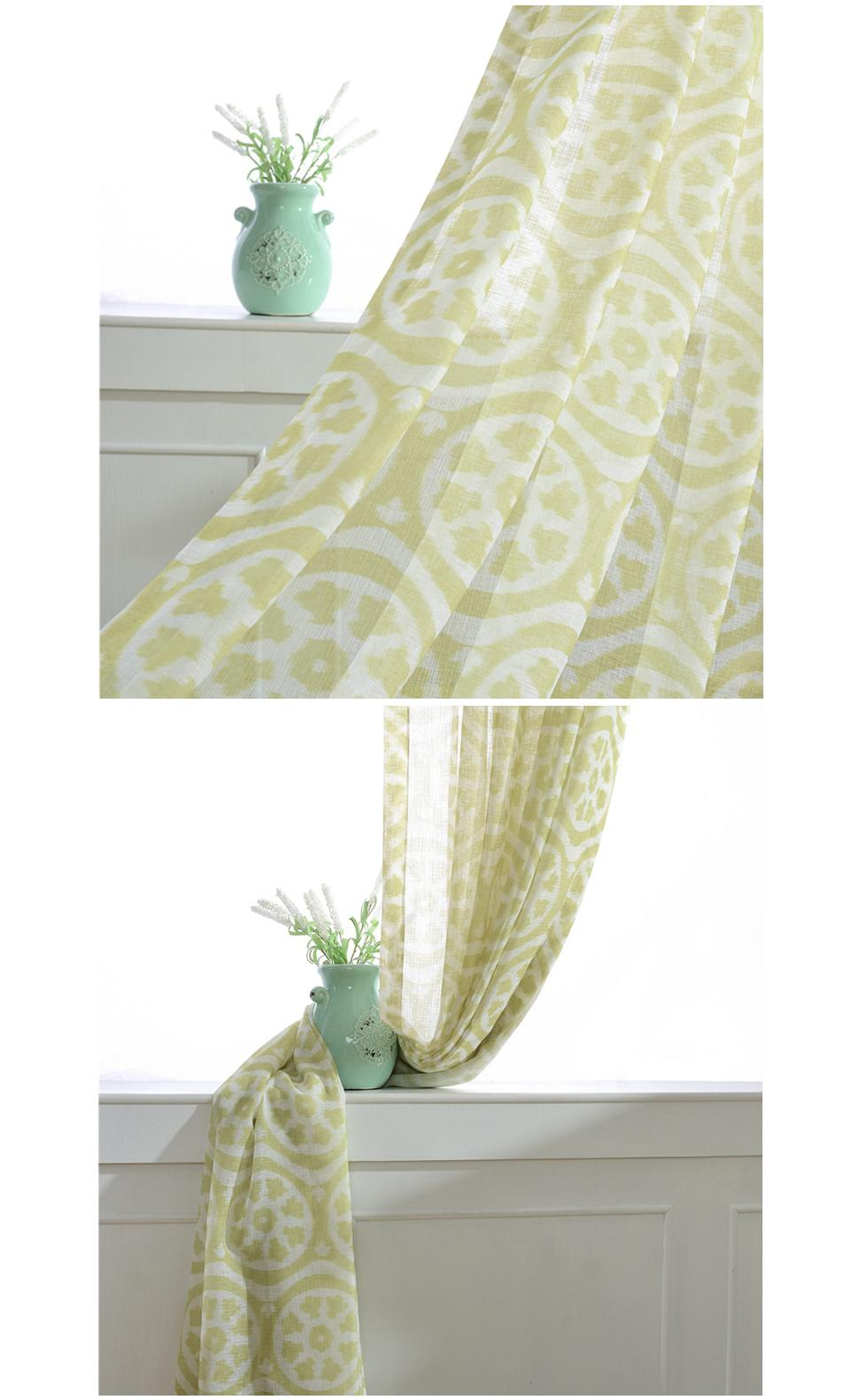 Lemon Green Curtains Norne Modern Tulle Window Sheer Curtains For Living Room The Bedroom The Kitchen Cortina Rideaux Lemon Print Fabric Blinds Drapes