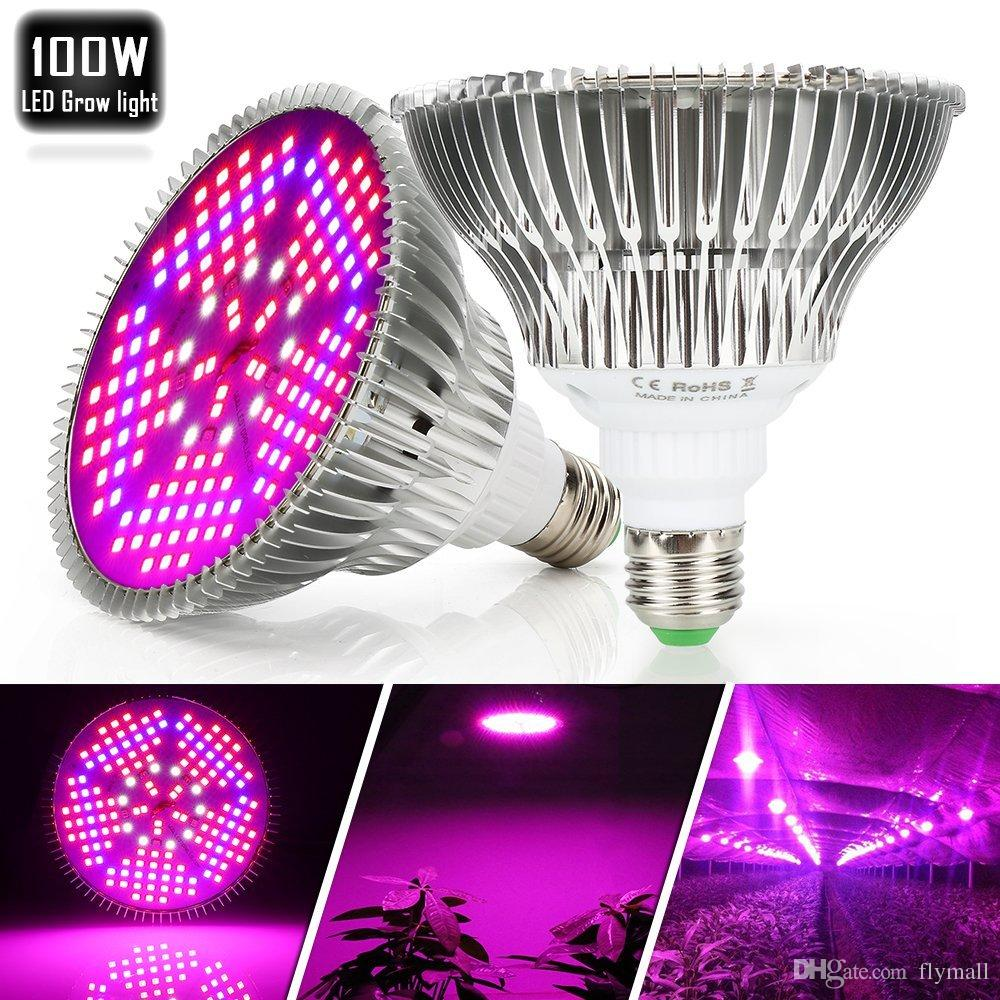 E27 Led 100w 100w Led Grow Light Bulbs E27 Full Spectrum Plant Light Lamp For Indoor Plants Vegetables Greenhouse And Hydroponic Grow Light Ac 85 265v