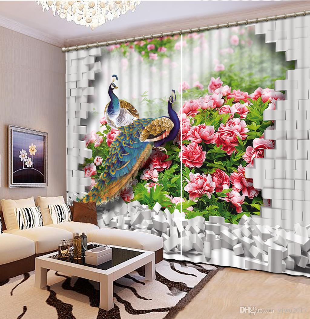 Modern Curtains For Bedroom Animal Luxury Window 3d Curtains Drapes For Bedroom Living Room Office Hotel Home Decorative 3d Modern Curtain