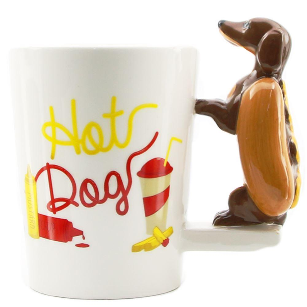 Cool Mugs 1piece Dachshund Sausage Pet Dog Personalised Mug Unique Sausage Dog Gift Funny Fast Food Sausage Puppy Bassotto Mug Cup
