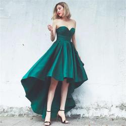 Assorted Green Low Prom Dresses 2017 A Line Cheap Sweeart Satin Laceup Back Homecoming Cocktail Party Evening Gowns Consignment Prom Dressescrazy Green Low Prom Dresses 2017 A Line Cheap Sweeart