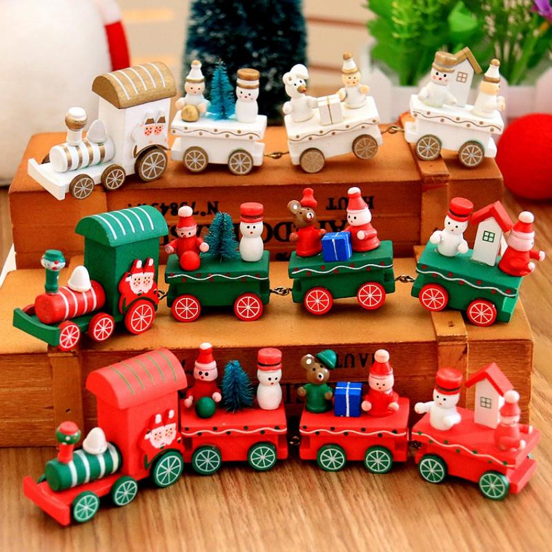 2018 New Christmas Decorations Train Set Figurine Christmas Toys