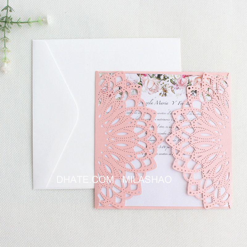 Compre País Rosa Titular De La Invitación De Boda Flor Del Reflejo