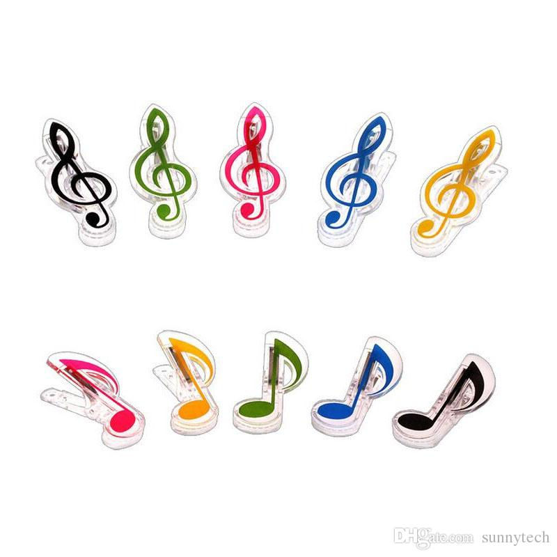 Plastic Music Note Clip Piano Book Page Clamp Musical Treble Clef
