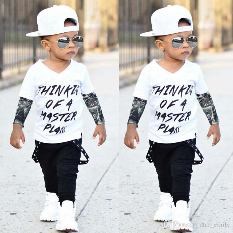 2019 HOT Ins Baby Boy Clothes Outfits Cool 2018 Letters Master Plan