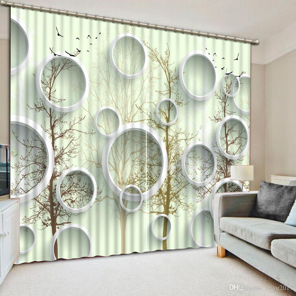 Modern Curtains For Bedroom Modern Bedroom Living Room Curtains Circle Photo Printing 3d Window Curtain For Home Thick Drapes