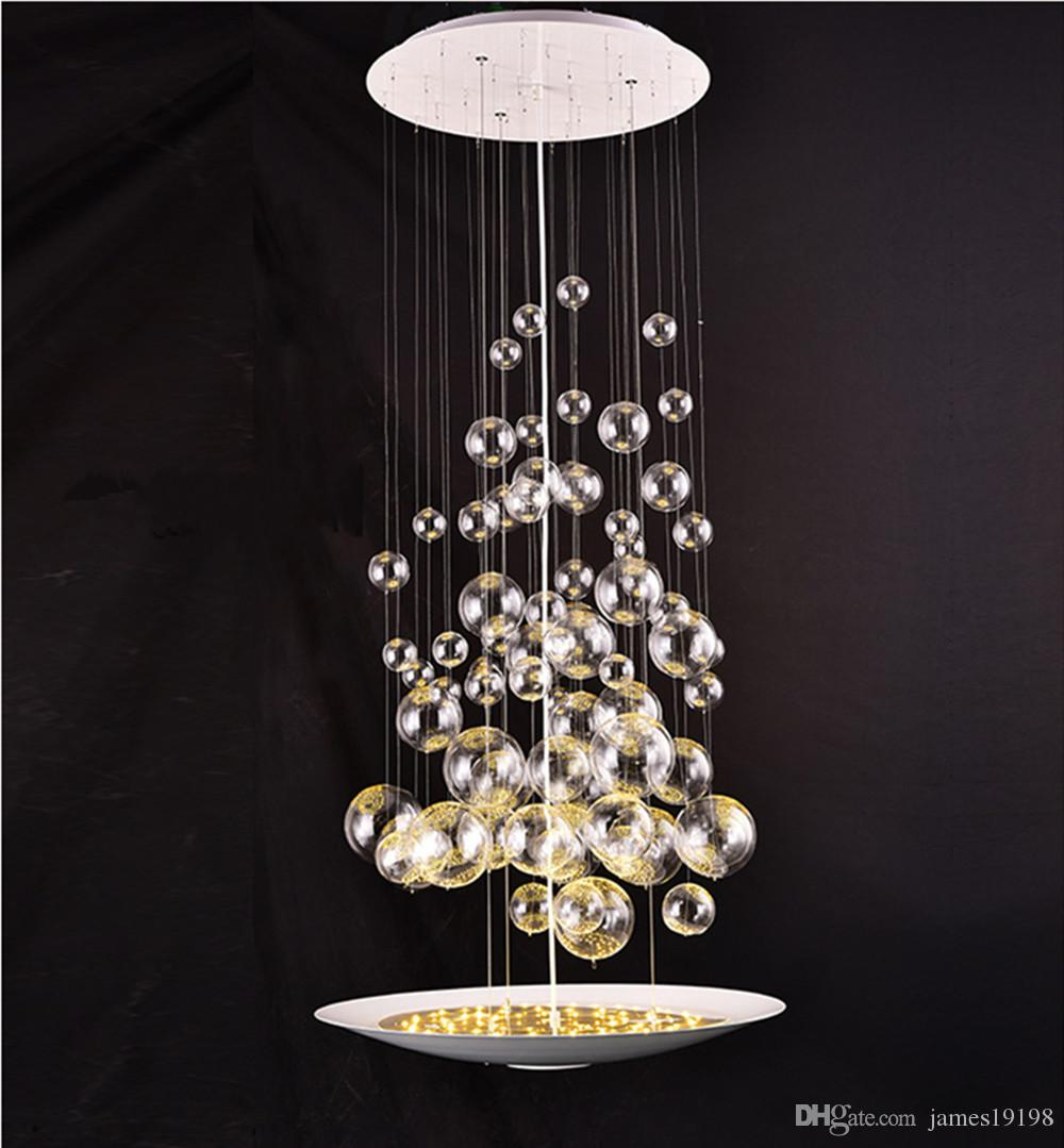 Glass Lamp Ceiling Modern Glass Bubble Balls Chandelier Pendant Lamp Ceiling Light Fixtures 55cm