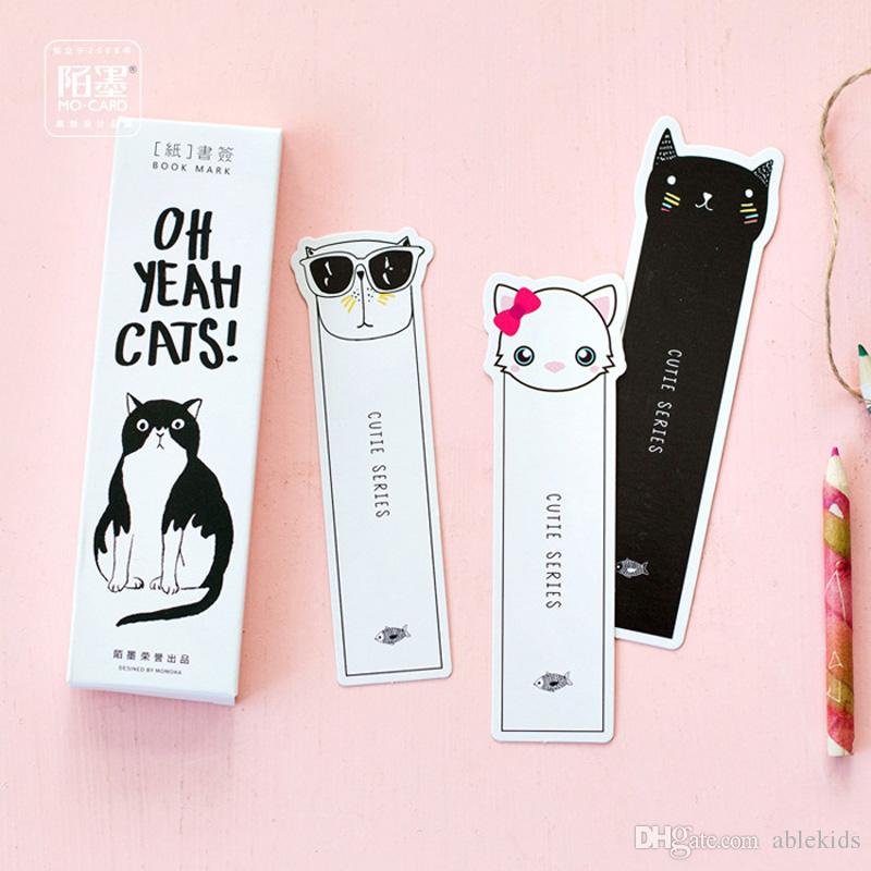 2019 /Pack Kawaii Cute Oh Yeah Cats Paper Bookmark Decorative Craft