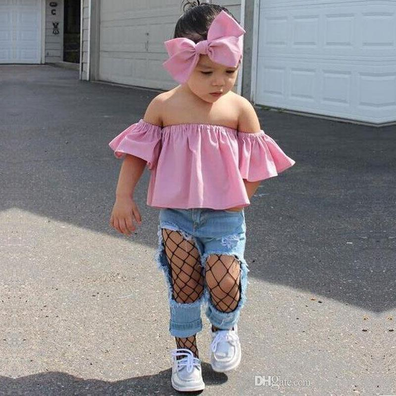 2019 Cute Kids Clothing Baby Girl Clothes Set Fashion Toddler Girls