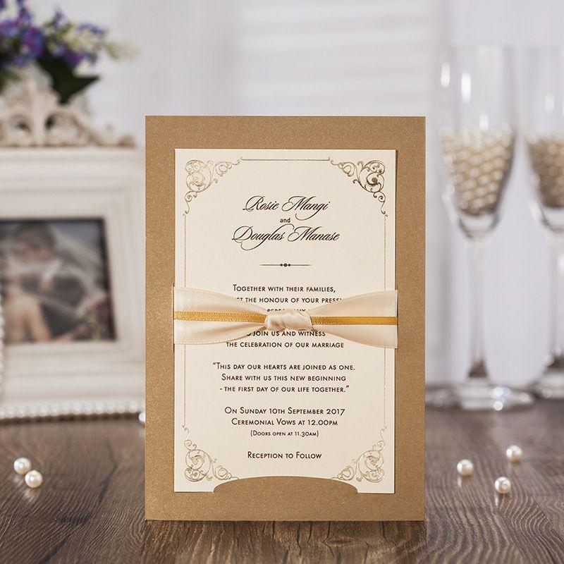 Wedding Invitations Cards Personalized Wedding Invitaiton Paper