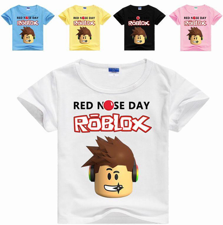 Mix Kids Boys Girls ROBLOX Printing Cartoon Tee Shirts Casual