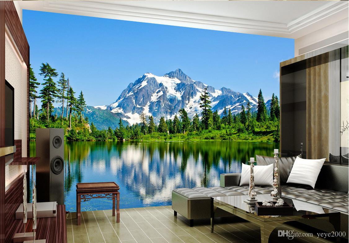 Wallpaper Murals For Bathrooms 3d Bathroom Wallpaper Snow Mountain Plateau 3d Landscape Background Wall Painting Photo Wall Murals Wallpaper