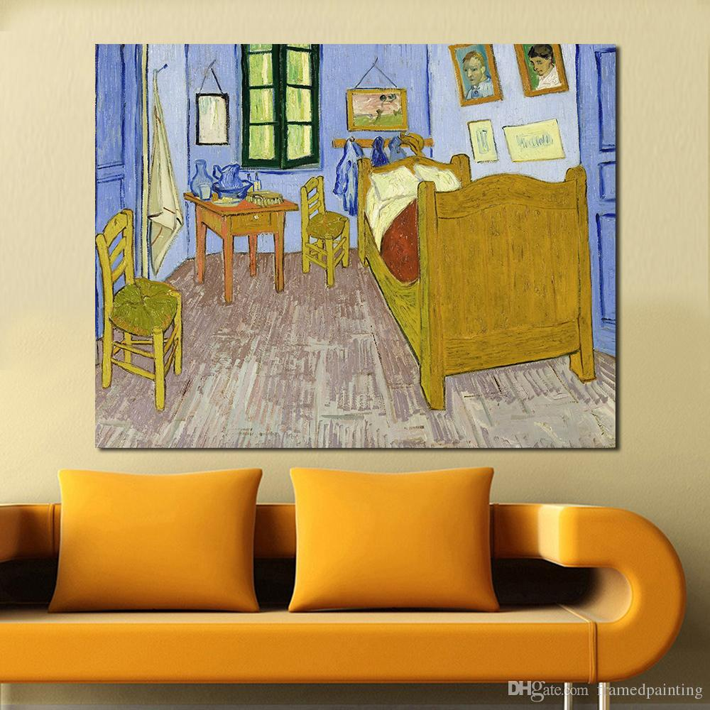 La Camera Da Letto Vincent Van Gogh Artists Vincent Van Gogh Bedroom In Arles Canvas Art Print Painting Poster Wall Picture For Home Decor No Frame