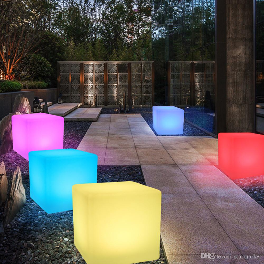 Led Möbel Glowing Led Chair 7 Color Led Furniture 20x20x20cm Square Cube Luminous Light For Garden Bar Party Wedding Show With Remote Control For Kid