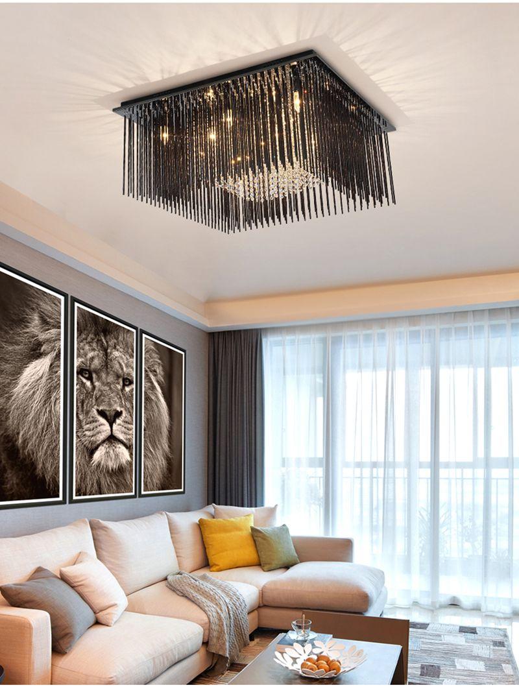 Schlafzimmer Quadratisch Led Nordic Edelstahl Kristall Acryl Runde  Quadratische Kronleuchter Beleuchtung Led Lampe Licht Für Foyer Schlafzimmer