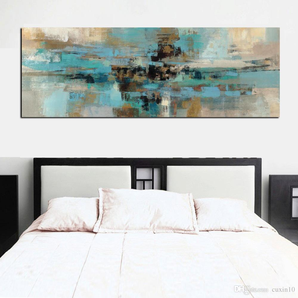 Decoracion Cuadros Salon Light Blue Canvas Painting Posters And Prints Modern Abstract Oil Painting Wall Art Bedroom Living Room Cuadros Decoracion Salon