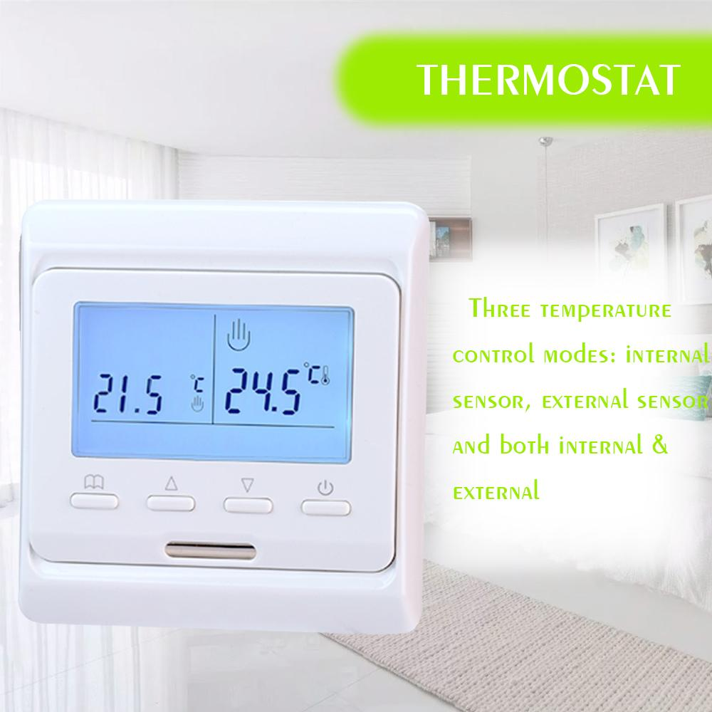 Heating Thermostat Thermometer Heating Thermostat Panel Intelligent Temperature Control Switch Overheat Protection Keypad Lock Controller E51