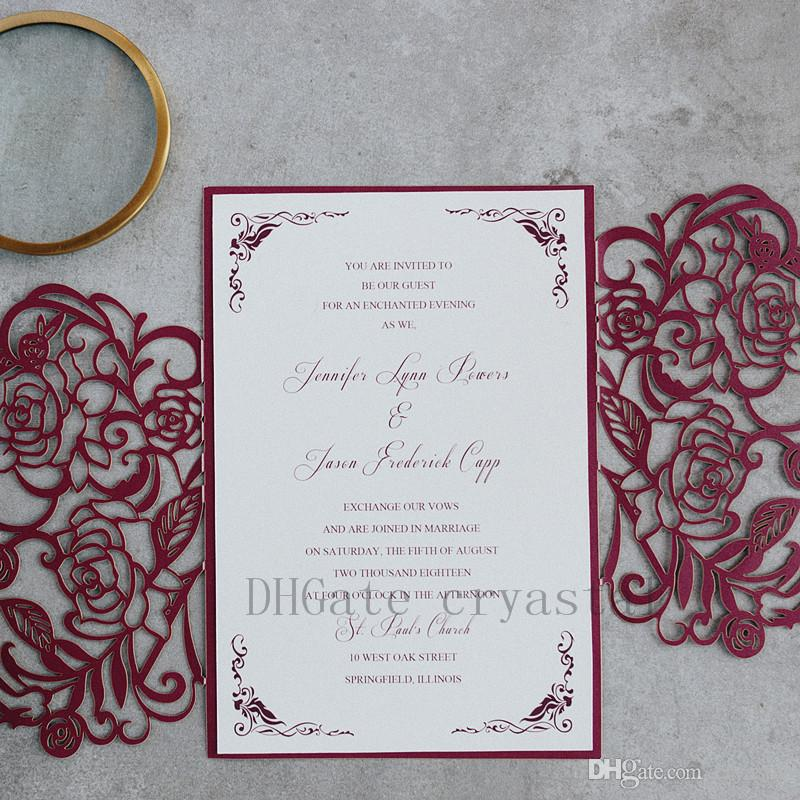 2018 Blooming In Burgundy Unique And Formal Invitation With Burgundy - Formal Invitation