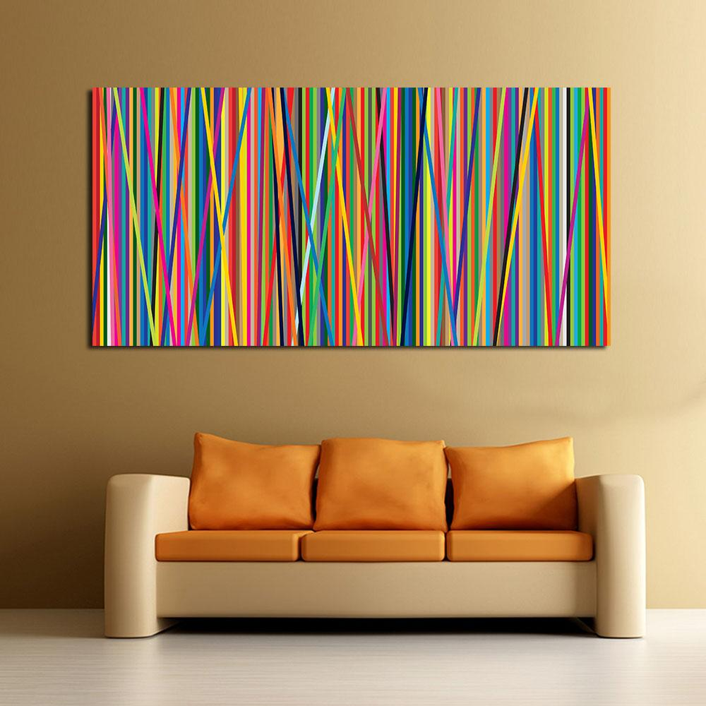Living Room Paintings Abstract Line Oil Painting Wall Art Canvas Decorative Living Room Painting Wall Painting Picture No Frame