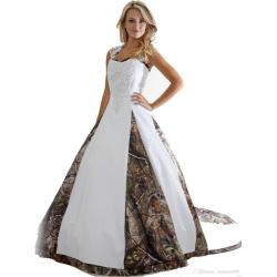 Exciting Appliques Ball Gown Long Discount 2018 New Camo Wedding Dresses Appliques Ball Gown Long Camouflagewedding Party Dress Bridal Gowns Romantic Lace Wedding Dresses Wedding Discount 2018 New Cam